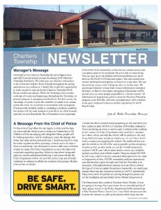 Chartiers Township Spring 2018 Newsletter