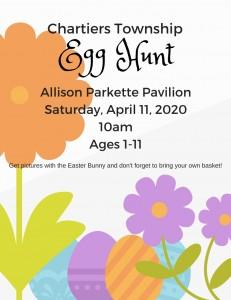 Easter Egg Hunt April 2020 Flyer