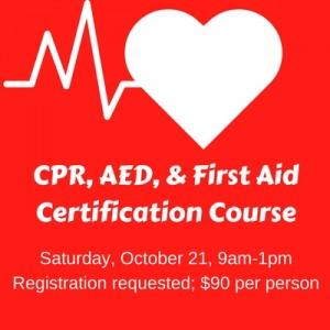 CPR Certification Oct 21