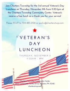 Veteran's Day Luncheon Flyer 2017